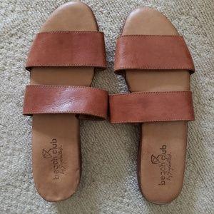 Seychelles Tan Leather Slides